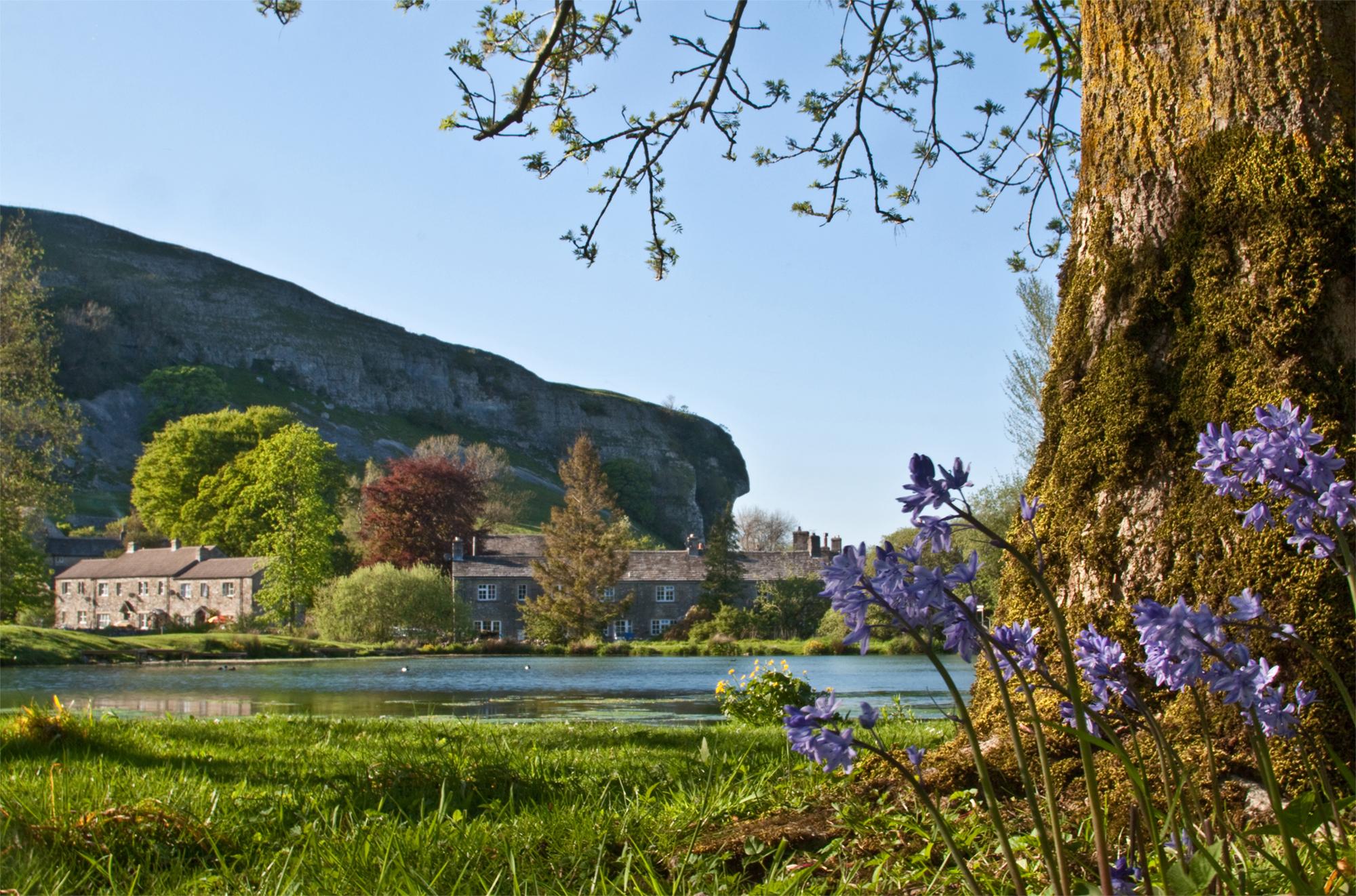 Kilnsey Farm in Spring