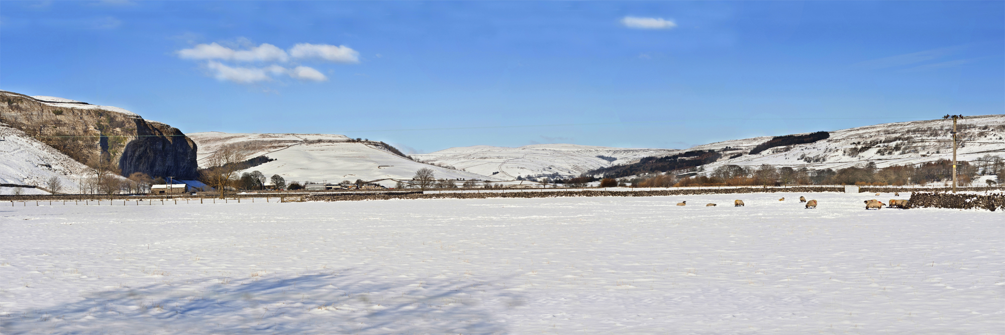 Upper Wharfedale in Snow
